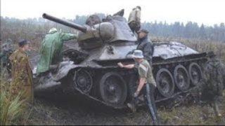 Раскопки огнеметного танка  - ОТ-34/76